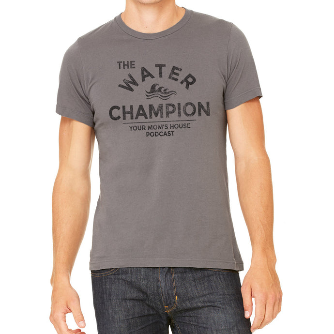 Water Champ Men's Grey T-Shirt