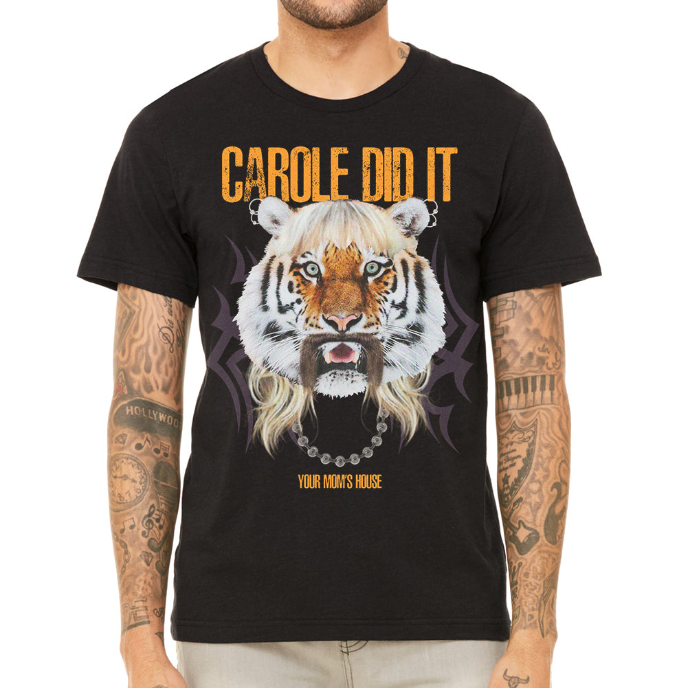 Carole Did It Men's Black Tee