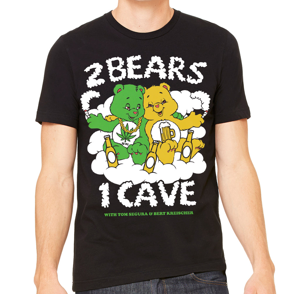 2 Bears, 2 Vices Men's Black Tee