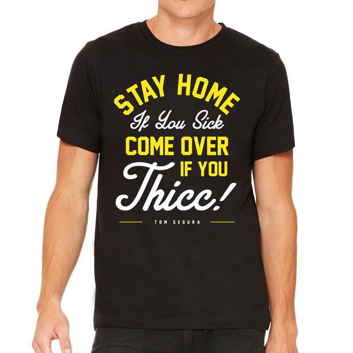 Sick or Thicc Men's Black Tee