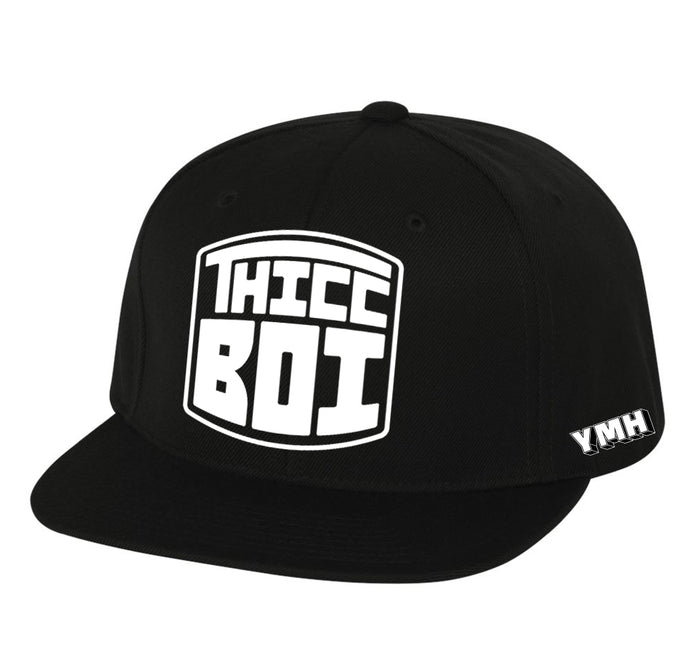 Thicc Boi Black Snapback Hat
