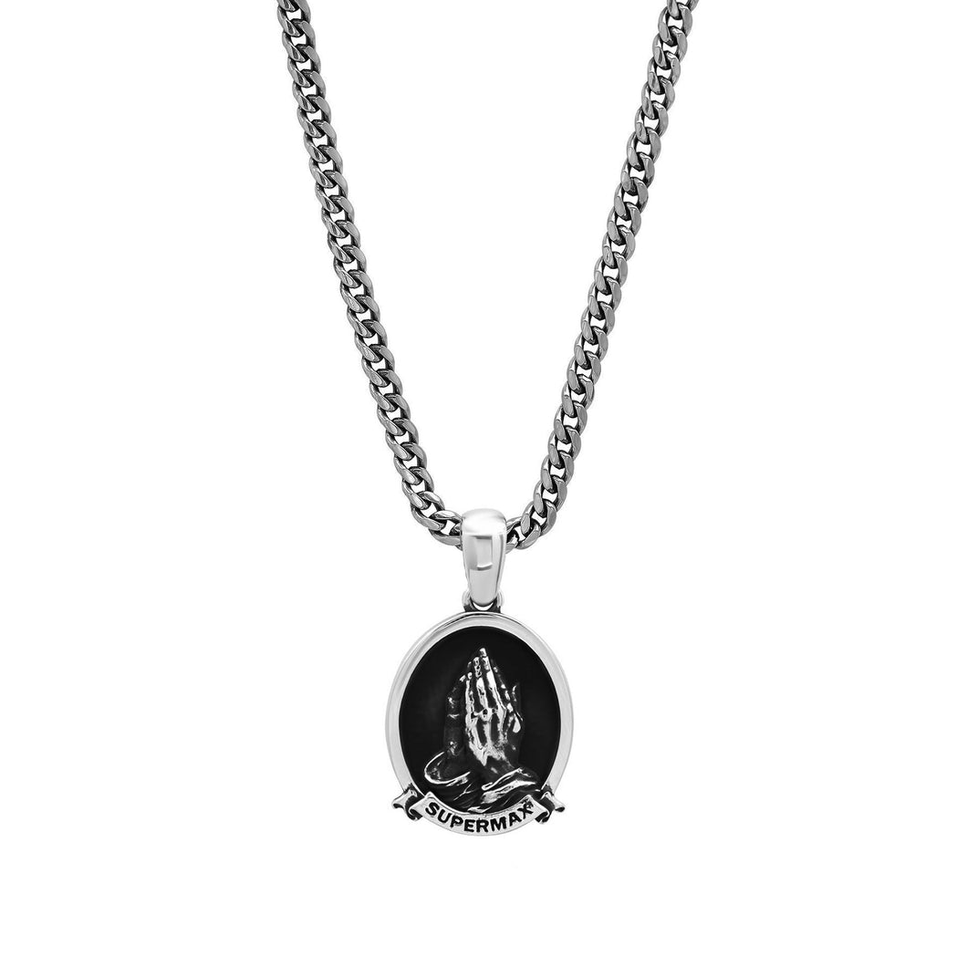 Supermax Hardware x Sixth & HIll Silver Pendant & Cuban Lynx Chain