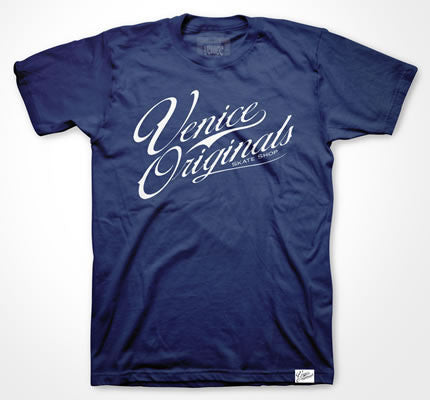Script Logo Men's Navy T-Shirt