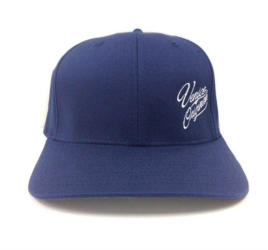Venice Originals Side Script Navy Flex Fit Hat