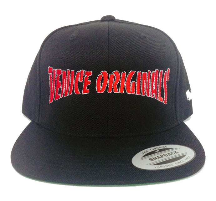 Venice Originals '89 Black Snapback Hat