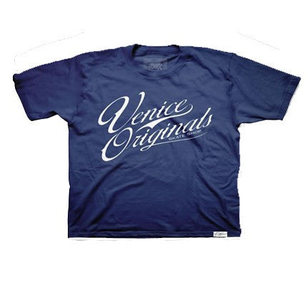 Script Logo Youth Navy T-Shirt