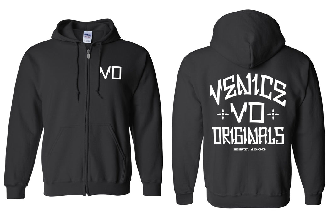 The VO Black Zip Hoodie