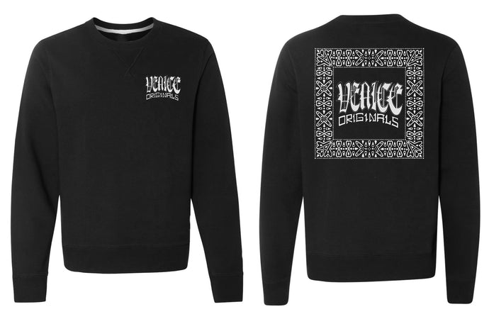 Traditional Black Crewneck Sweatshirt