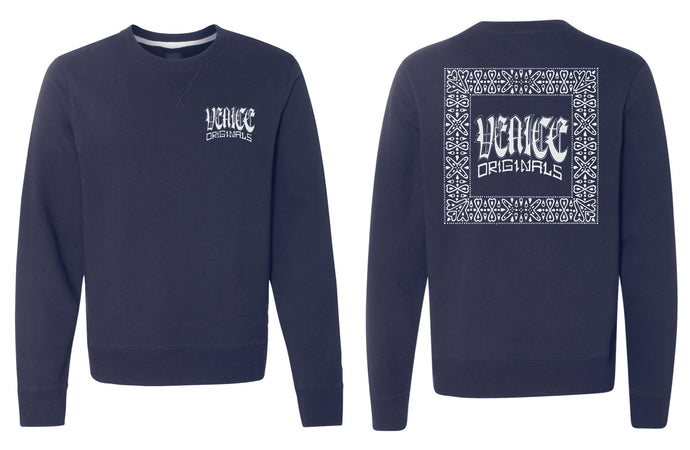Traditional Navy Crewneck Sweatshirt