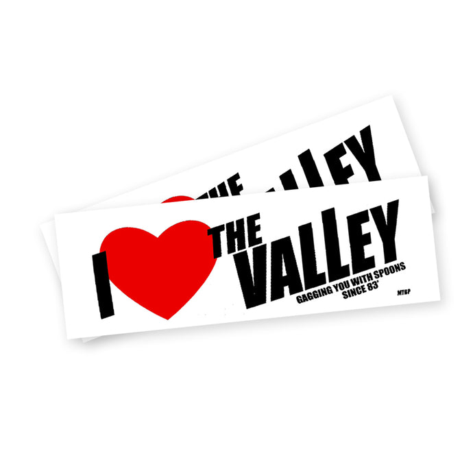 I Love The Valley Bumper Sticker Pack