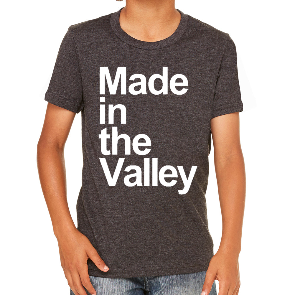Made in The Valley Tri Blend Black Youth Tee