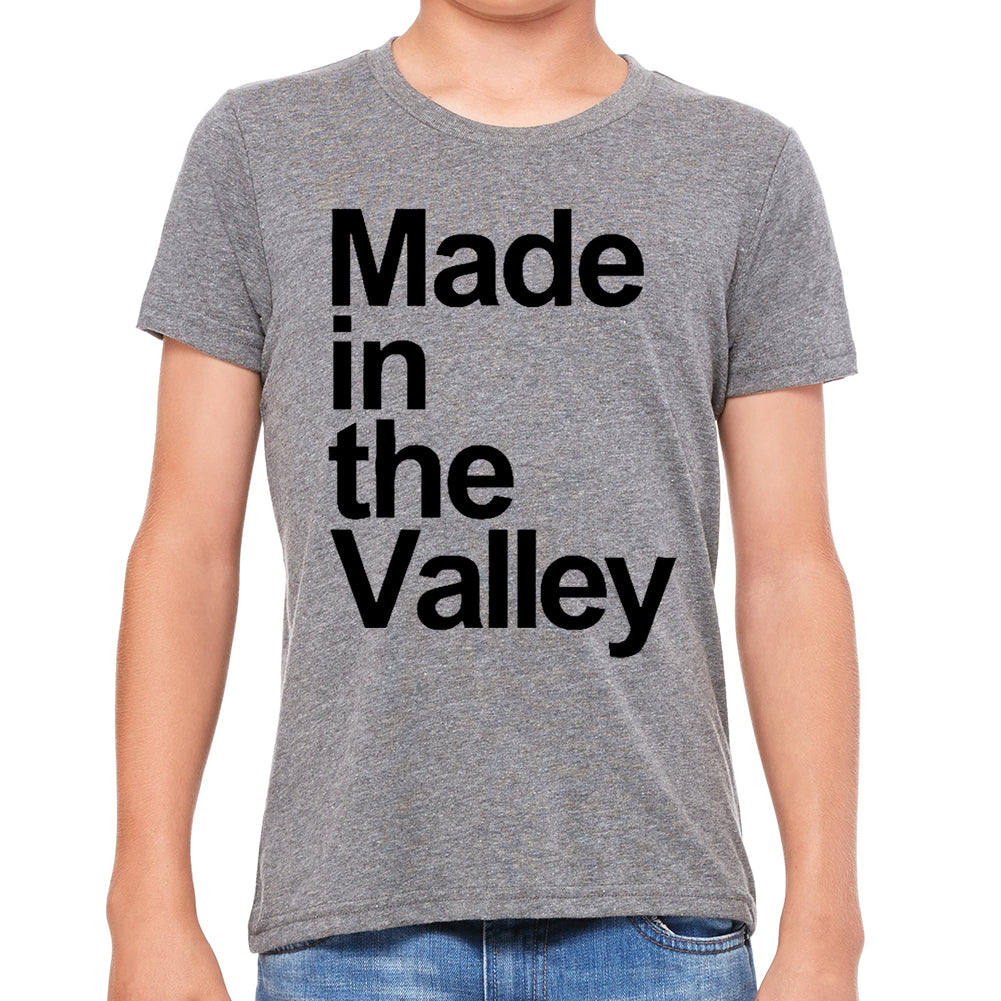 Made in The Valley Tri Blend Grey Youth Tee