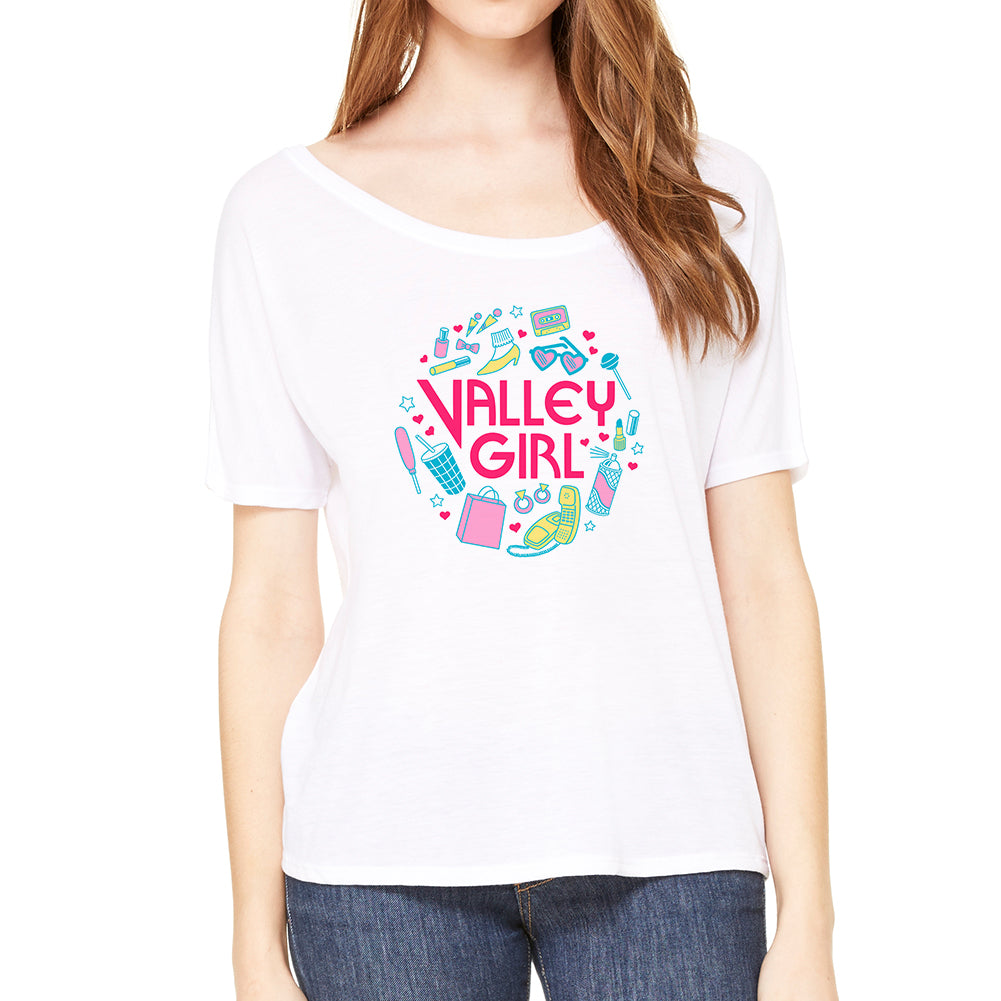 Valley Girl White Scoop Women's Tee