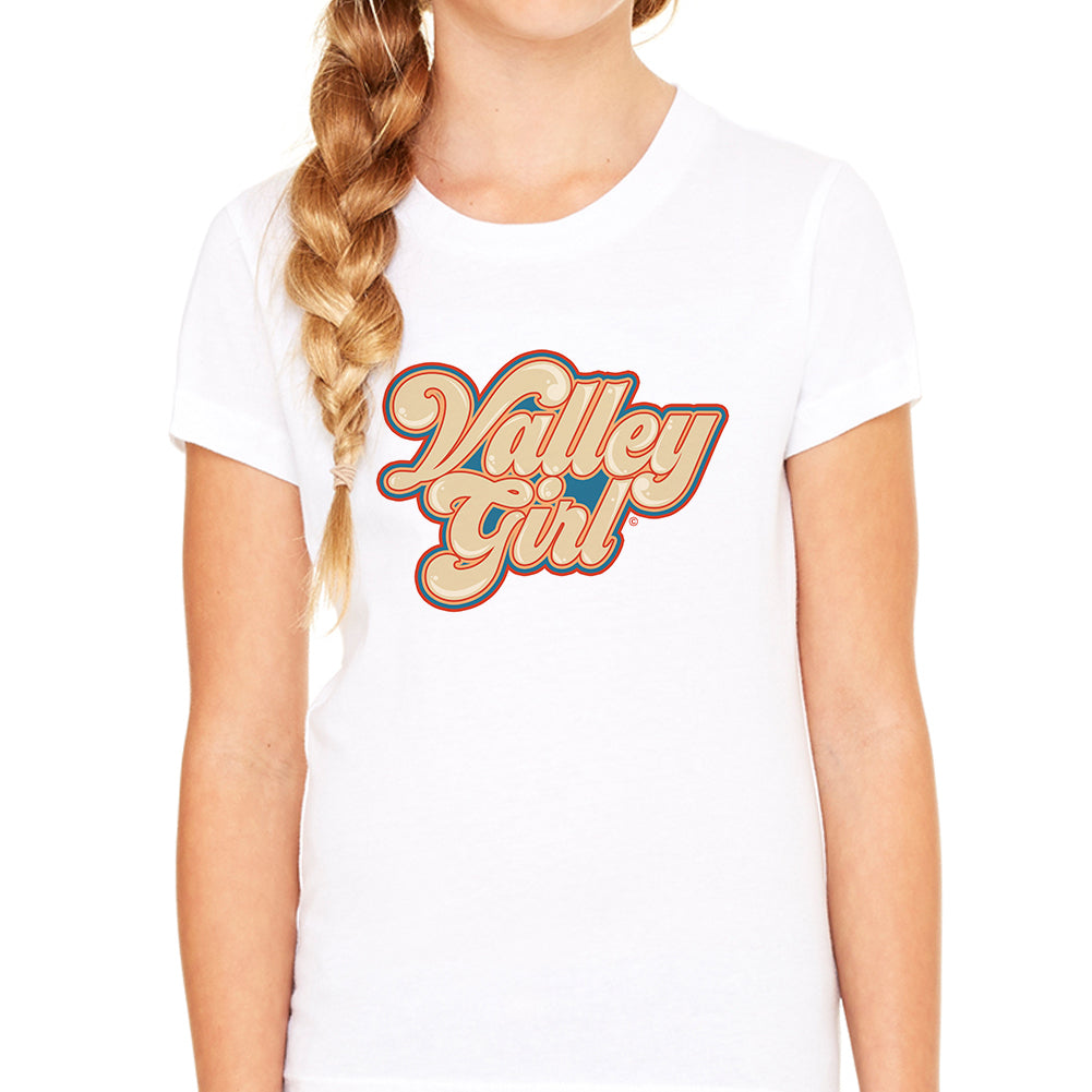 Valley Girl Script White Youth Tee