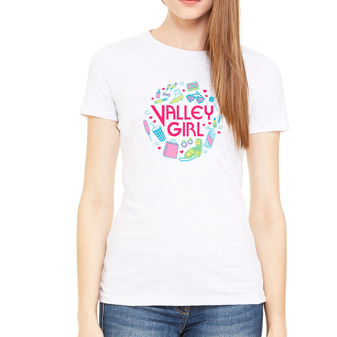 Valley Girl White Women's Tee
