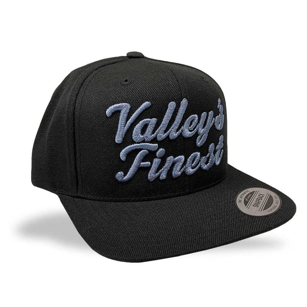 Valley's Finest Black Snapback Hat