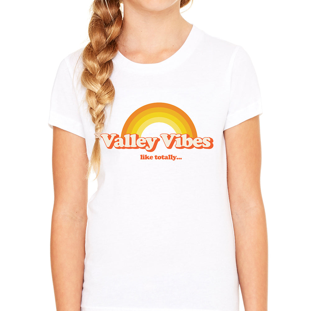 Valley Vibes White Youth Tee