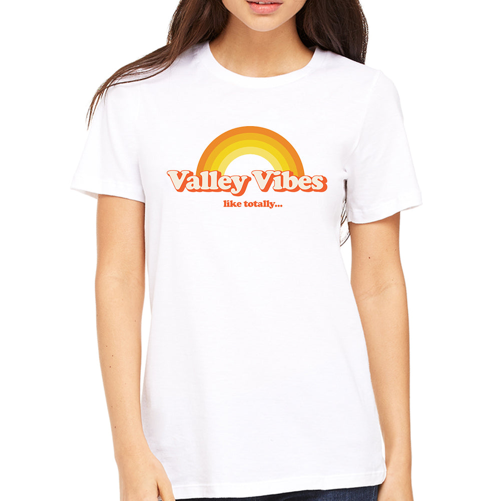 Valley Vibes Women's White Tee