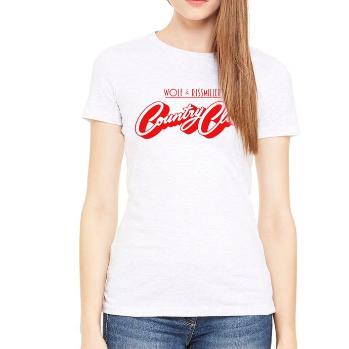 Country Club Women's White T-Shirt