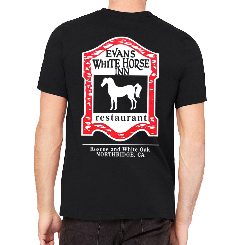 Evan's White Horse Inn Black Men's T-Shirt