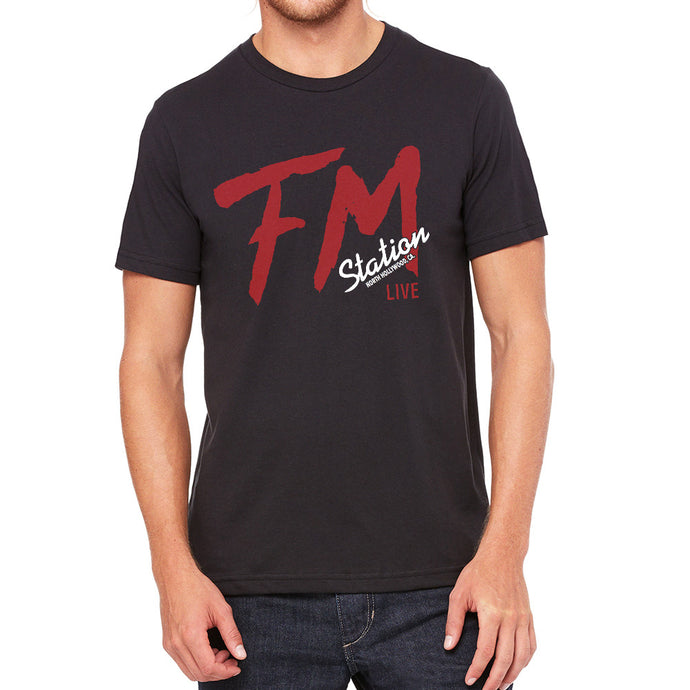 FM Station Black Men's T-Shirt