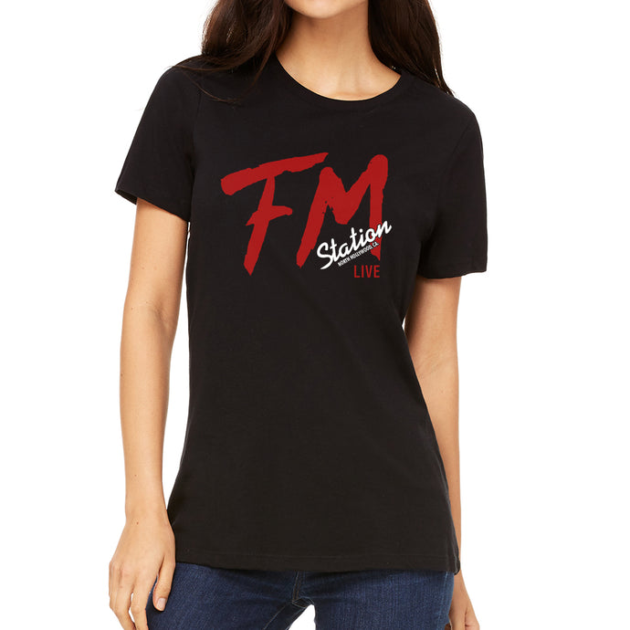 FM Station Women's Black T-Shirt