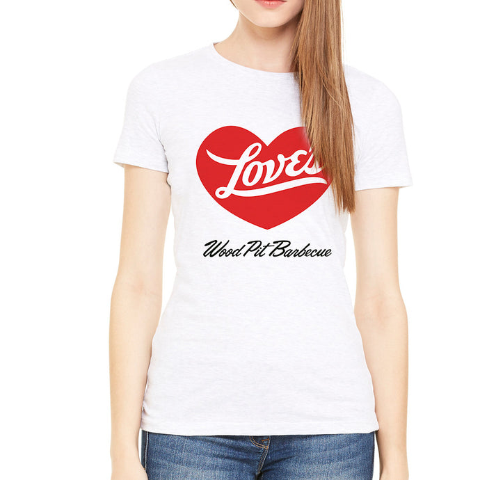 Love's BBQ White Women's T-Shirt