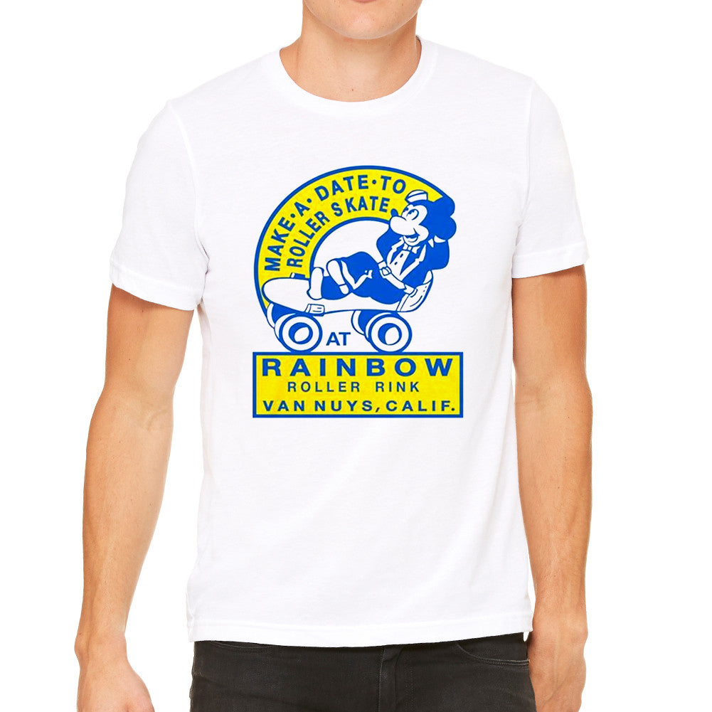 Make A Date To Rollerskate White Men's T-Shirt