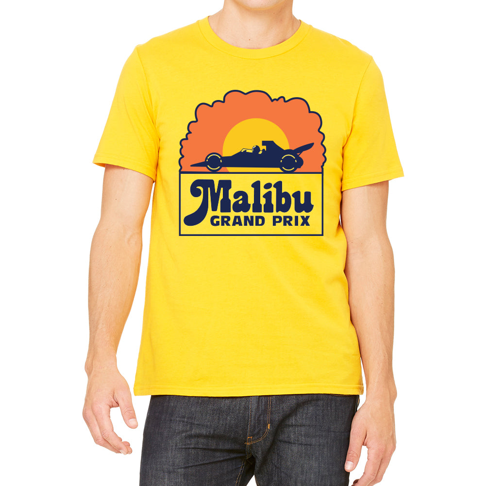 Malibu Grand Prix Logo Men's Yellow T-shirt