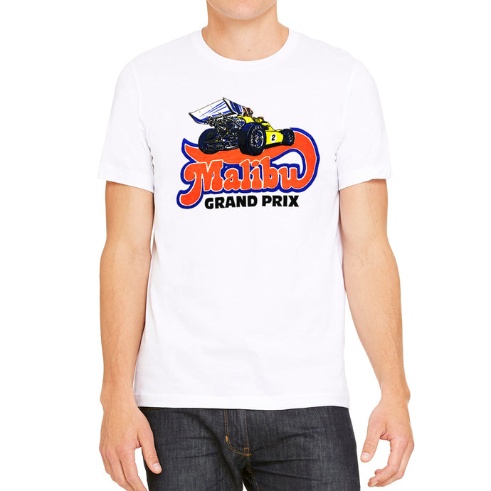 Malibu Grand Prix Logo 2.0 Men's White T-Shirt