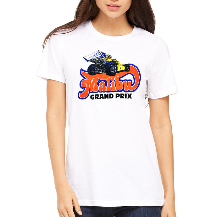Malibu Grand Prix Logo 2.0 Women's White T-Shirt