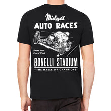 Midget Auto Races Men's Black T-Shirt