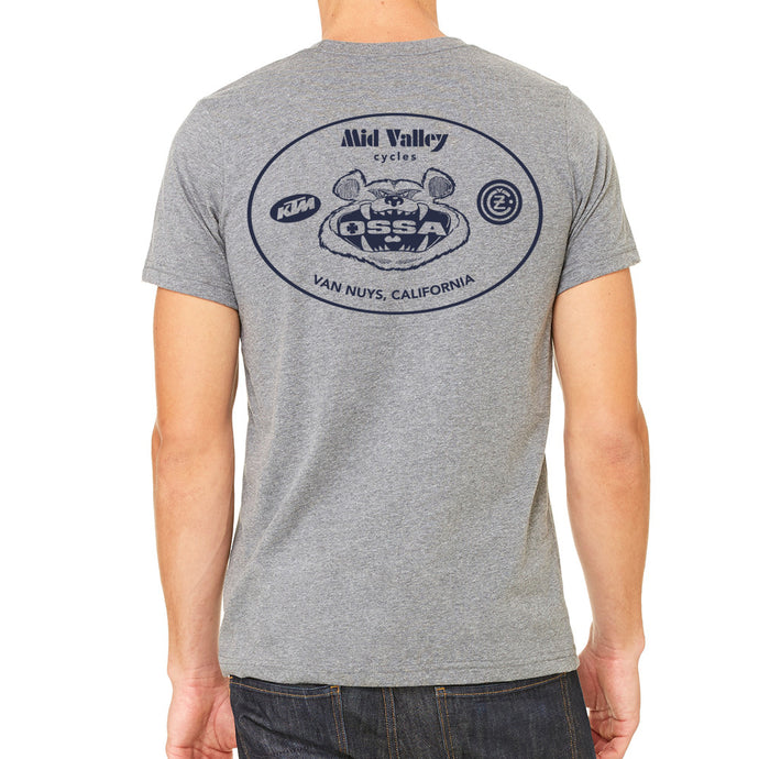 Mid Valley Cycles Van Nuys Gray Men's T-Shirt