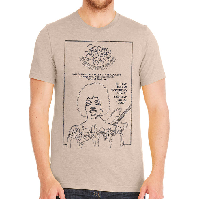 Newport 69 Jimi Hendrix Natural Men's T-Shirt