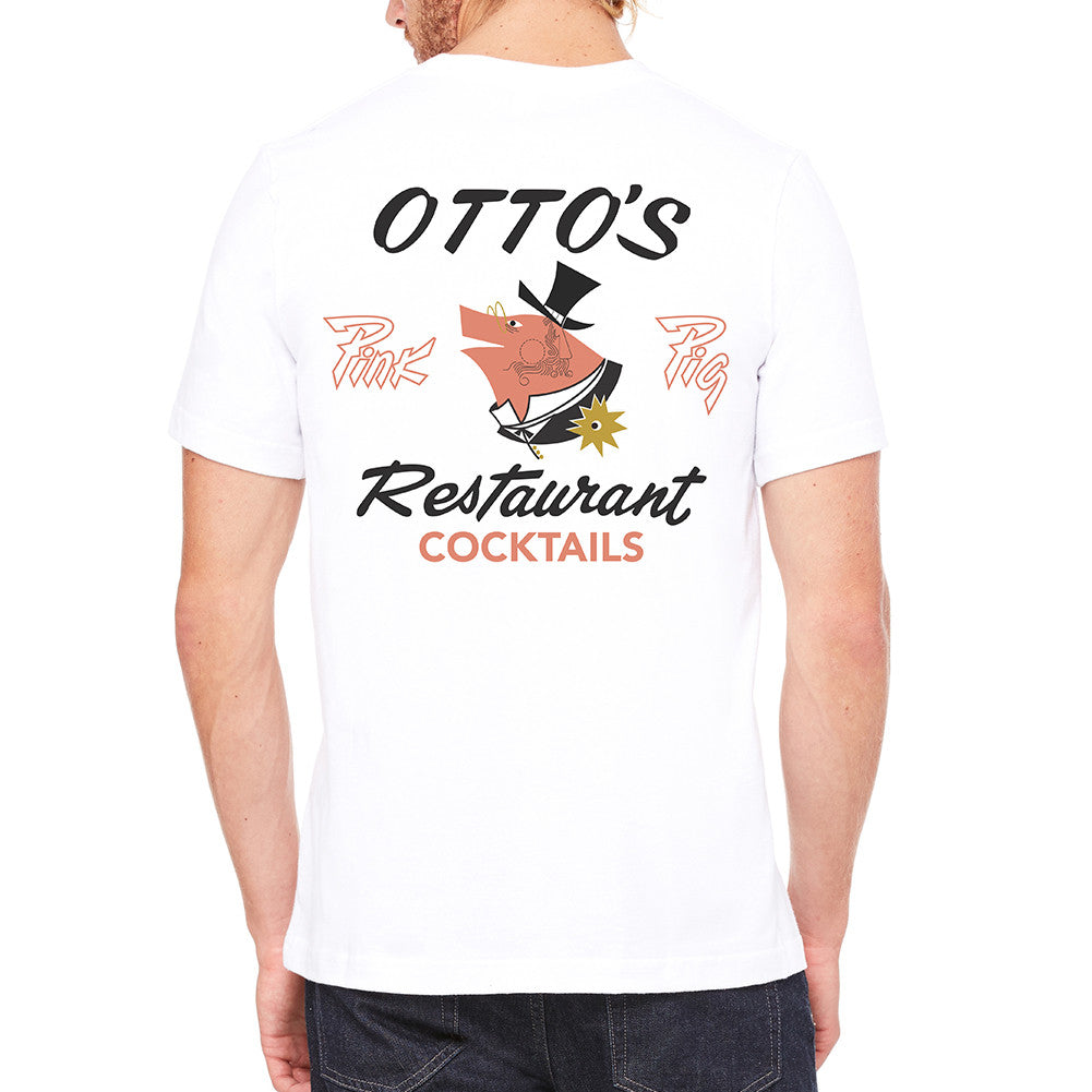 Otto's Pink Pig White Men's T-Shirt