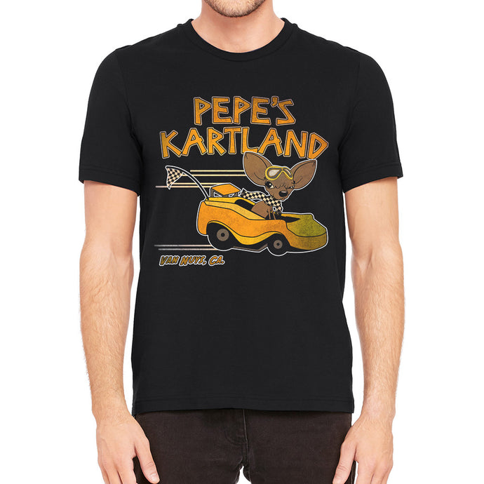 Pepe's Kartland Men's Black T-Shirt