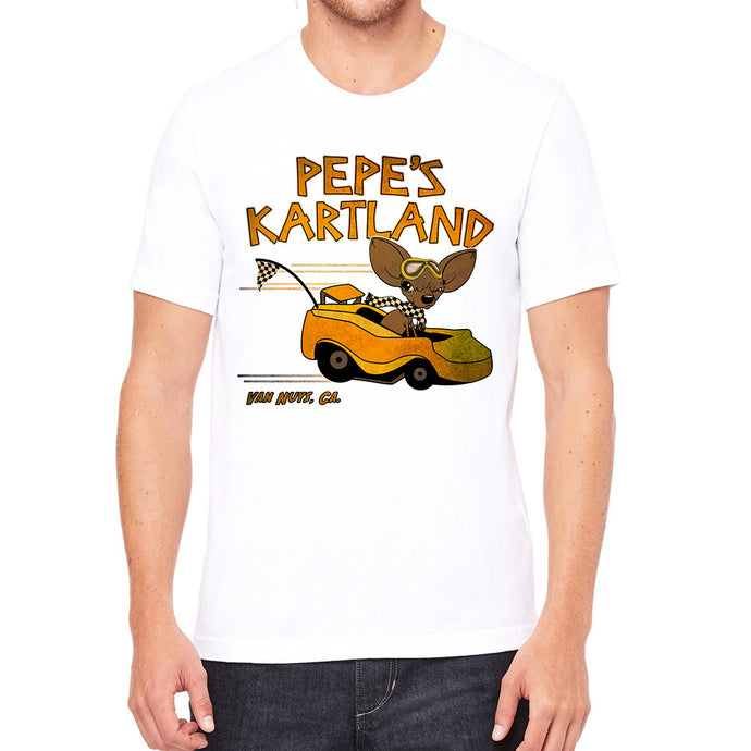 Pepe's Kartland White Men's T-Shirt
