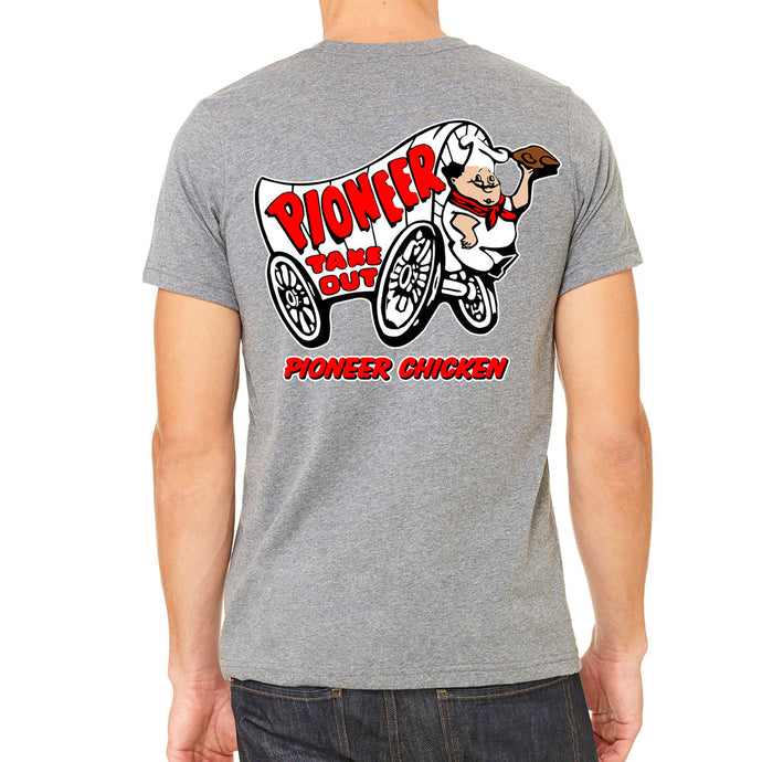 22d9737a Pioneer Chicken Men's Grey T-Shirt