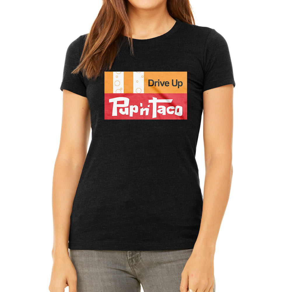 Pup N Taco Women's Black T-Shirt