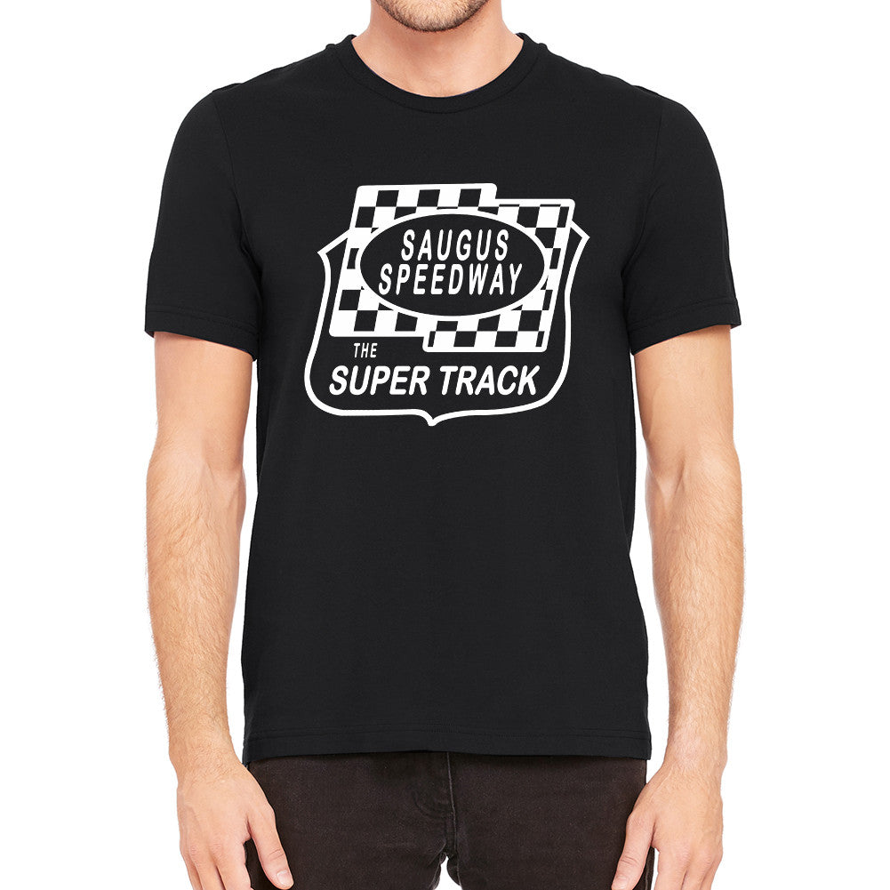Saugus Speedway Super Track Black Men's T-Shirt