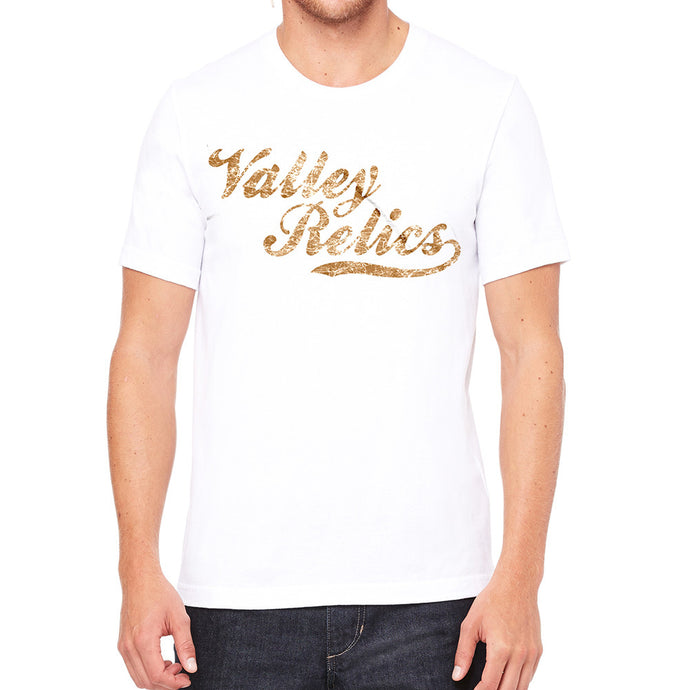 Valley Relics Script Logo White Men's T-Shirt