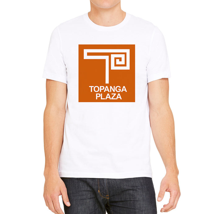 Topanga Plaza Retro White Men's T-Shirt