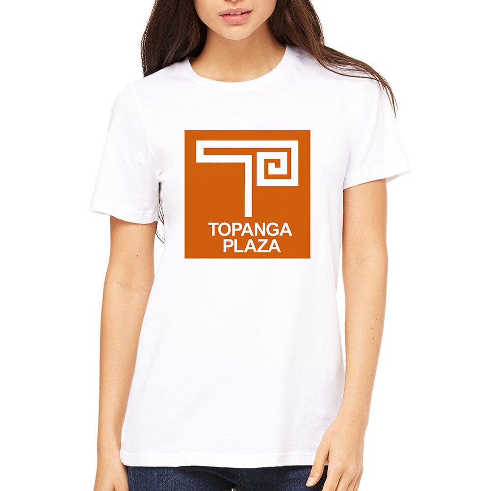 Topanga Plaza Retro White Women's T-Shirt