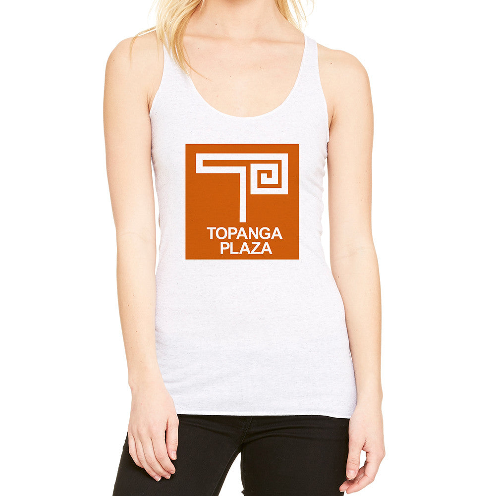 Topanga Plaza Retro White Women's Tank Top