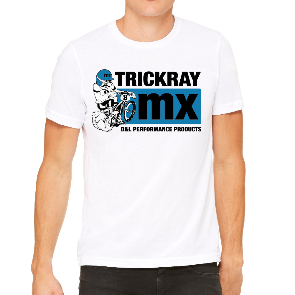 Trickray BMX Men's White T-Shirt