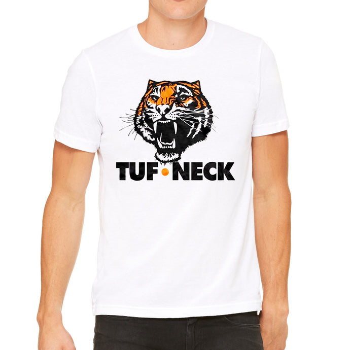 TUFF Neck Tigers White Men's T-Shirt