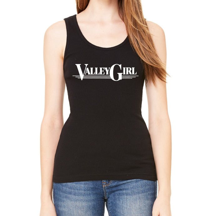 Valley Girl Black Tank Top