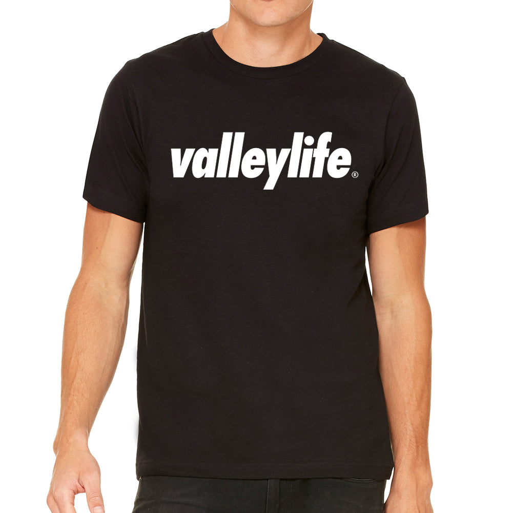 Valley Life Men's Black T-Shirt