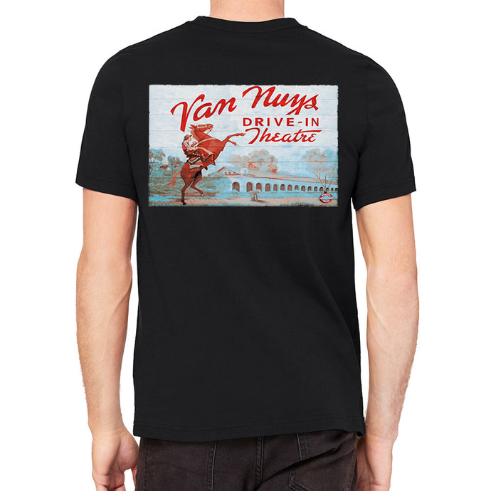 Van Nuys Drive In Black Men's T-Shirt