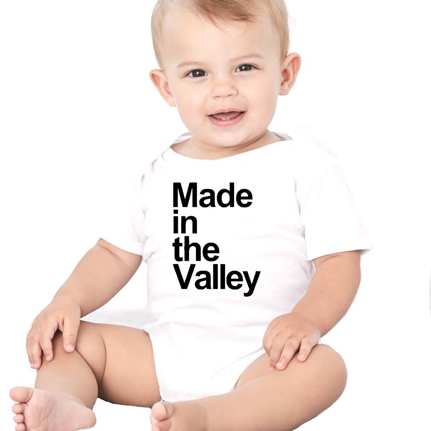 Made In The Valley Baby Onesie